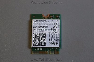 Original 3165NGW Intel Dual Band Wireless Bluetooth 4.0 WK22