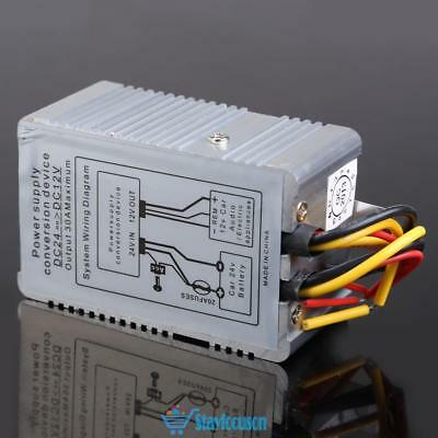 24V to 12V DC-DC Car Power Supply Inverter Converter Conversion Device 30A UK