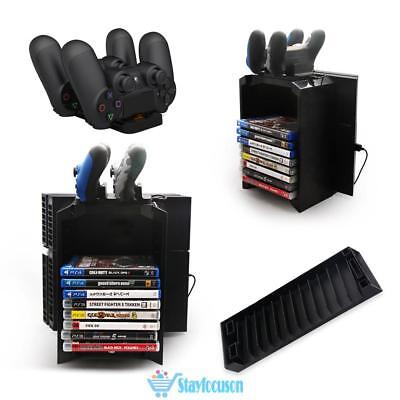 3 in 1 Disk Storage Tower Stand Charging Dock Station for PS4 Game Controller UK