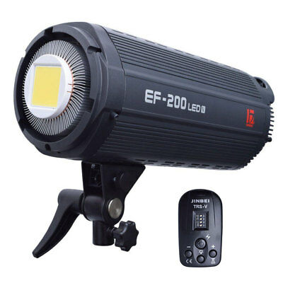 [2019 Ver] Jinbei EF-200 V Studio Photo Video LED Light Lamp + TRS-V Transmitter