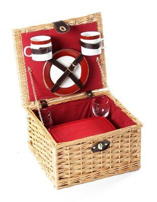 Greenfield Collection Dorchester - Cesta de picnic en mimbre, para 2 personas,