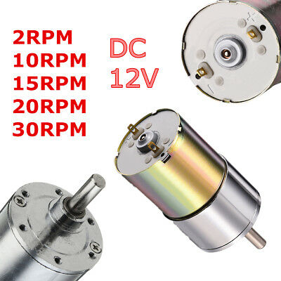 DC 12V 2- 1000RPM High Torque Electric Gear Box Motor Speed Reduction Gearbox