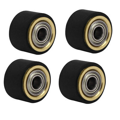 4mmx10mmx14mm Silicone Pinch Roller Rolling Wheel for Engraving Machine 4Pcs