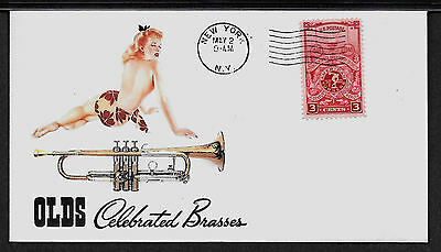 1956 Olds Recording Trumpet & Sexy Lady Featured on Collector's Envelope  *A241