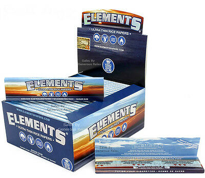 50 25 20 15 10 5 Elements King Size SLIMS Ultra Thin Rice Rolling Papers