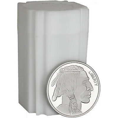 No Date Buffalo Medallion 1oz .999 Silver-- 20pc Tube