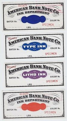 Lot of 7 American Bank Note Company Specimen Colour Notes