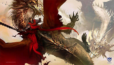 "Crimson Rider Trading & Gaming Card Playmat 24"" x 14"" Play Mat"