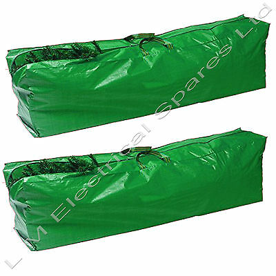 2 x Christmas Tree Storage Bags Strong Durable Hardwearing Xmas Decorations Bags