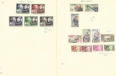 Laos Collection on 5 Pages, Neatly Identified Lot With Sets