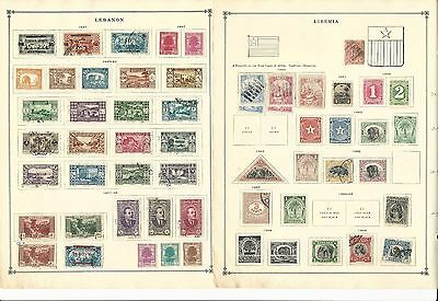 Lebanon & Liberia Collection 1880-1938 on 12 Scott International Pages