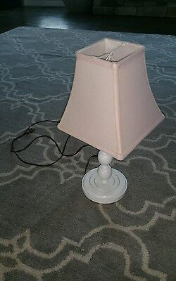 Pink lamp shade - little girl white base and pink lamp SUPER CUTE!