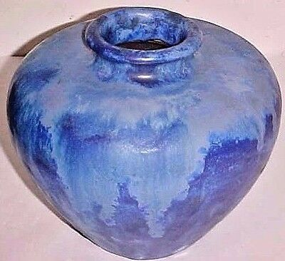 FULPER  POTTERY VASE CHINESE BLUE FLAMBE in MATTE GLAZE - FINISH SHAPE # 658