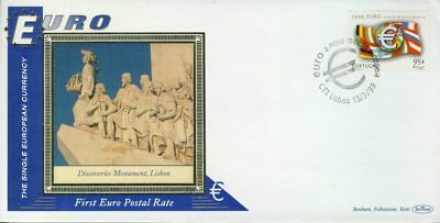 Portugal Discoveries Monument Lisbon EURO currency 1st postal stamps 1999 BEN...