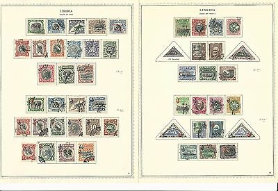 Liberia Collection 1860-1972 on 90 Minkus Specialty Pages