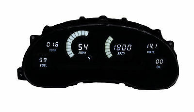 Ford Mustang Digital Dash Panel for 1994-2004 Gauges by Intellitronix White LEDs