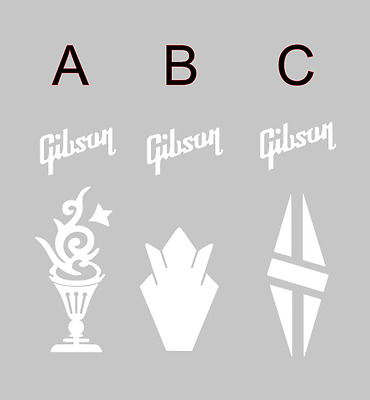 Gibson Headstock - Vinyl Decal sticker for Guitar