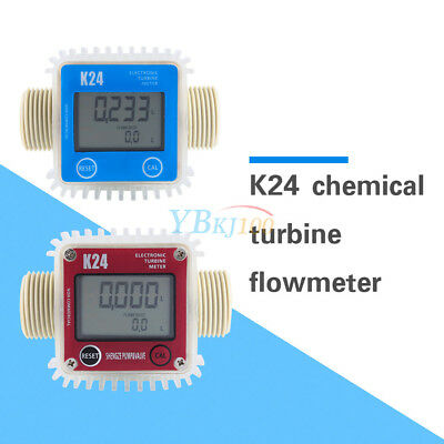 K24 LCD Turbine Digital Diesel Fuel Flow Meter Widely Used fr Chemicals Water CE