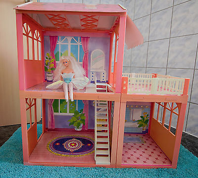 mattel barbie w3141 traumhaus villa mit zubeh r eur 89. Black Bedroom Furniture Sets. Home Design Ideas