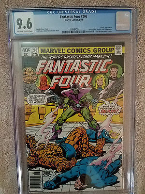 Fantastic Four #206 cgc 9.6 Off-white to White pages