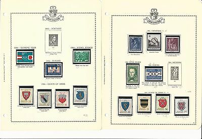 Liechtenstein Collection 1963-1981 on 38 Minkus Specialty Pages, Mint NH