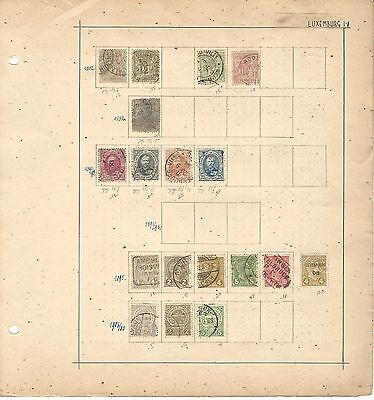 Luxembourg Collection 1882-1906 on 3 Pages, Neatly Mounted Lot