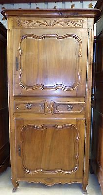 Antique French Homme Debout * Circa 1890 * Antique Walnut Armoire Wardrobe