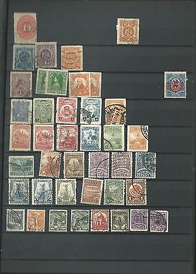 Mexico Collection in Scott Stock Book, 7 Pages, Nice Lot To Pick Through