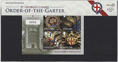 GREAT BRITAIN 2017 WINDSOR CASTLE LTD EDITION No. 0978 STAMPEX OVERPRINTED .
