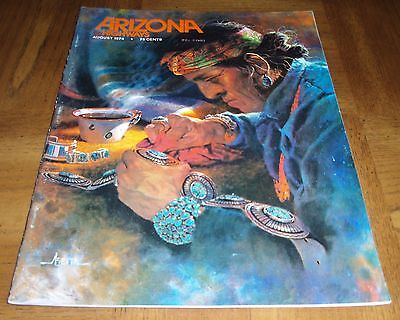 August 1974 Arizona Highways - Native American Jewelry Edition- Turquoise Silver