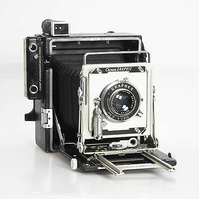Graflex Crown Graphic 4X5 Large Format Film Camera 135mm F4.7 Lens