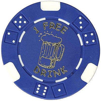 "100 Free Drink Poker ""beer Mug"" Style Chips Tokens Restaurants Or Bar *"
