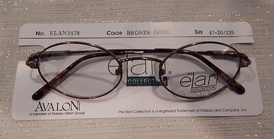 Elan 9178 Bronze Demi 47/20 Oval Metal Unisex Eyeglass Frame New/Old Stock #157