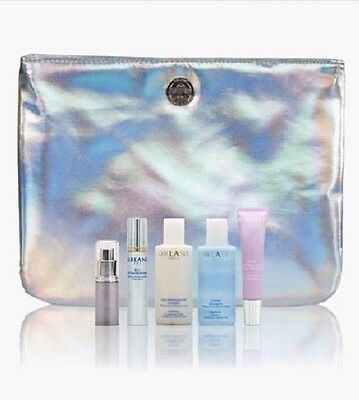 Orlane Cosmetic Bag & Beauty Products 6 Piece Travel Set $175 Value New