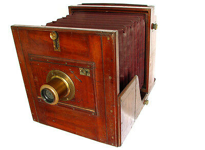 "Rare Ross 12x12"" Wet Plate Camera With 15x12 Brass Lens c1860, ULF"