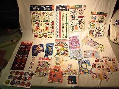 Big Lot of Vintage Disney Stickers Scrapbook Window Decals Disney World