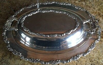 Vintage Wm A Rogers Silver plated Serving Dish with Cover