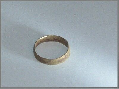 Viking ancient Bronze Ring Band Size 8, 4 mm wide