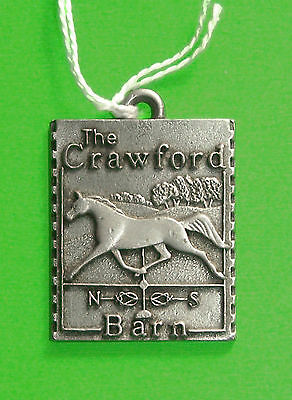 "Longaberger Basket ""crawford Farm"" Pewter Tie-On"