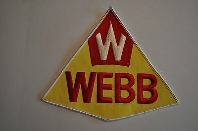 Large 1960's Webb Oil & Gas Service Station Patch - New Old Stock - Last One