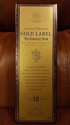 Johnnie Walker Scotch Whisky Gold Label Centenary Blend! 1st Generation! Only 1!