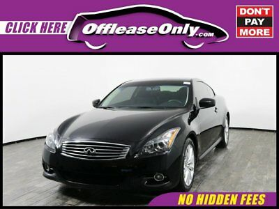 2014 Infiniti Q60 Coupe Journey RWD Off Lease Only Black Obsidian 2014 INFINITIQ60Coupe Journey RWD with 41350 Miles