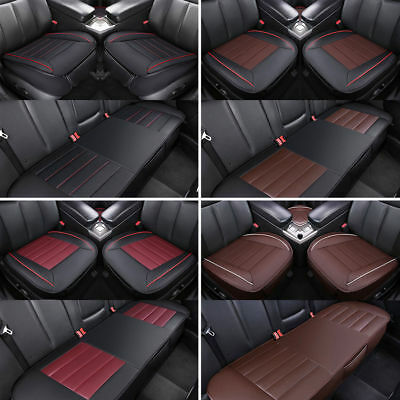 3D Universal Car Seat Cover PU Leather/Linen/Velvet Pad Mat Auto Chair Cushion