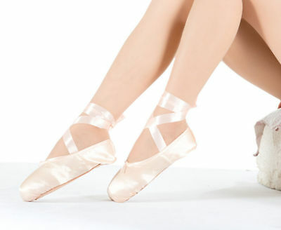 Adult Ballet Pointe Dance Toe Shoes Professional Satin Lace up Ladies Girl Shoes