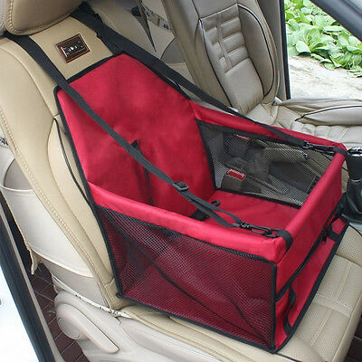 Pet Car Booster Seat Carrier Bag Case for Dog Puppy Cat Traveling with Seat Belt