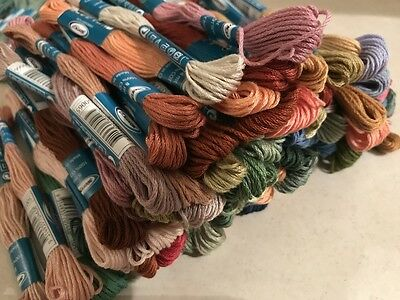 100 Skeins SEMCO Embroidery Cotton Thread Floss Mixed Bulk Clearance Lot NEW