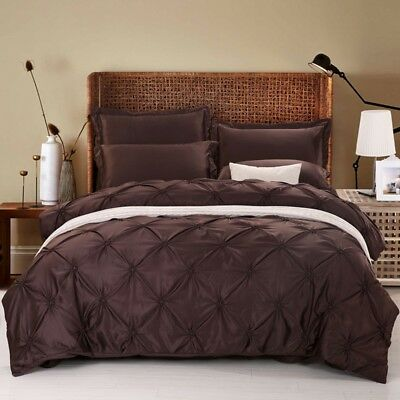 Pintuck Diamond Alford Duvet Cover Pillow Cases Double/King Size Bedding Set New