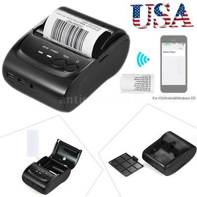 58mm Mini Bluetooth USB Thermal Printer Dot Receipt Ticket POS-iOS Android Wins