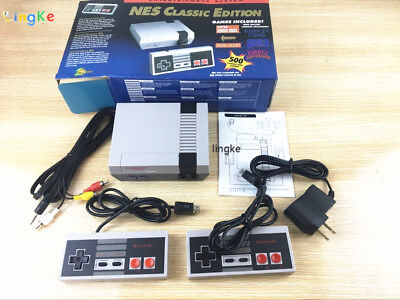 2017 Retro Classic TV Game Console Built-in 500 Games 2 Controllers Classic Game