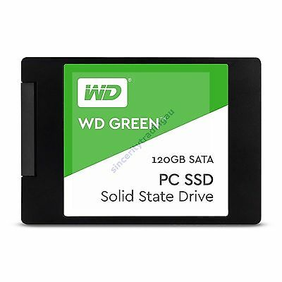 "WESTERN DIGITAL WD GREEN 2.5"" 7MM 540MB/s Read 120GB SOLID STATE DRIVE NEW A"